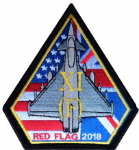 No. XI (11) Squadron RAF Exercise Red Flag 2018 Eurofighter Typhoon Spearhead Embroidered Patch